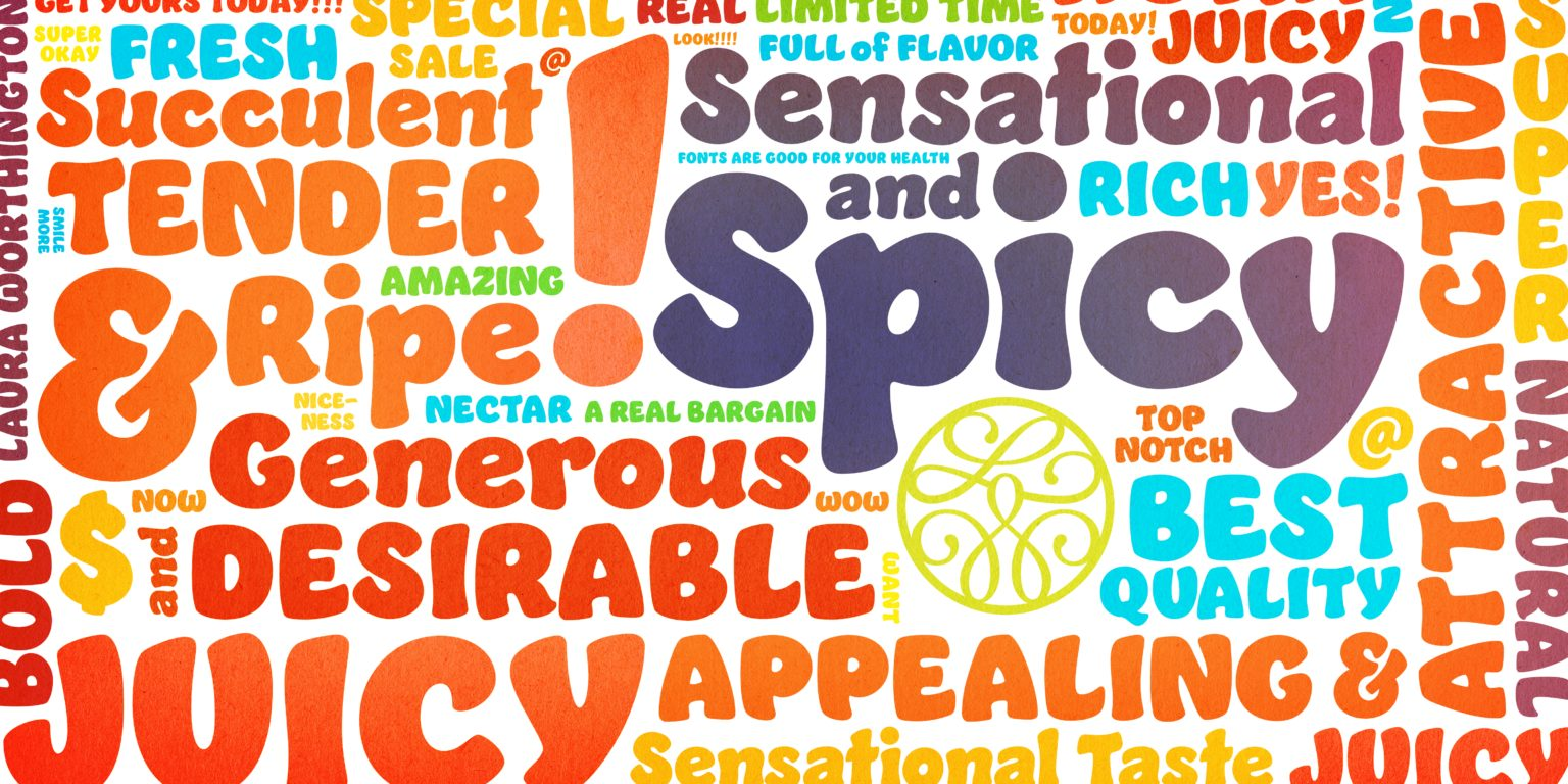 B  Jumble Myfonts Word Cloud